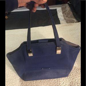 B. Makowsky Leather Convertible Tote Handbag